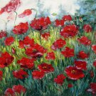 Flowe field 20x24 in. stretched Oil Painting Canvas Art Wall Decor modern204