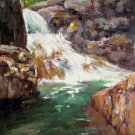 Brook 20x24 in. stretched Oil Painting Canvas Art Wall Decor modern008