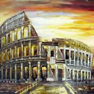 Colosseum 20x24 in. stretched Oil Painting Canvas Art Wall Decor modern001