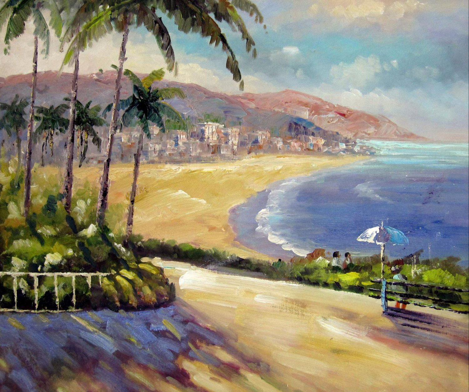 Mediterranean 20x24 in. stretched Oil Painting Canvas Art Wall Decor modern006