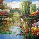 Waterlily 20x24 in. stretched Oil Painting Canvas Art Wall Decor modern006