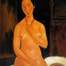 Rep. Amedeo Modigliani 20x24 in. stretched Oil Painting Canvas Art Wall Decor modern29D