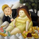 Rep. Fernando Botero 20x24 in. stretched Oil Painting Canvas Art Wall Decor modern133
