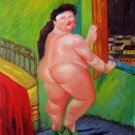 Rep. Fernando Botero 20x24 in. stretched Oil Painting Canvas Art Wall Decor modern164