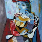 Rep. Pablo Picasso 20x24 in. stretched Oil Painting Canvas Art Wall Decor modern009