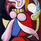 Rep. Pablo Picasso 20x24 in. stretched Oil Painting Canvas Art Wall Decor modern014