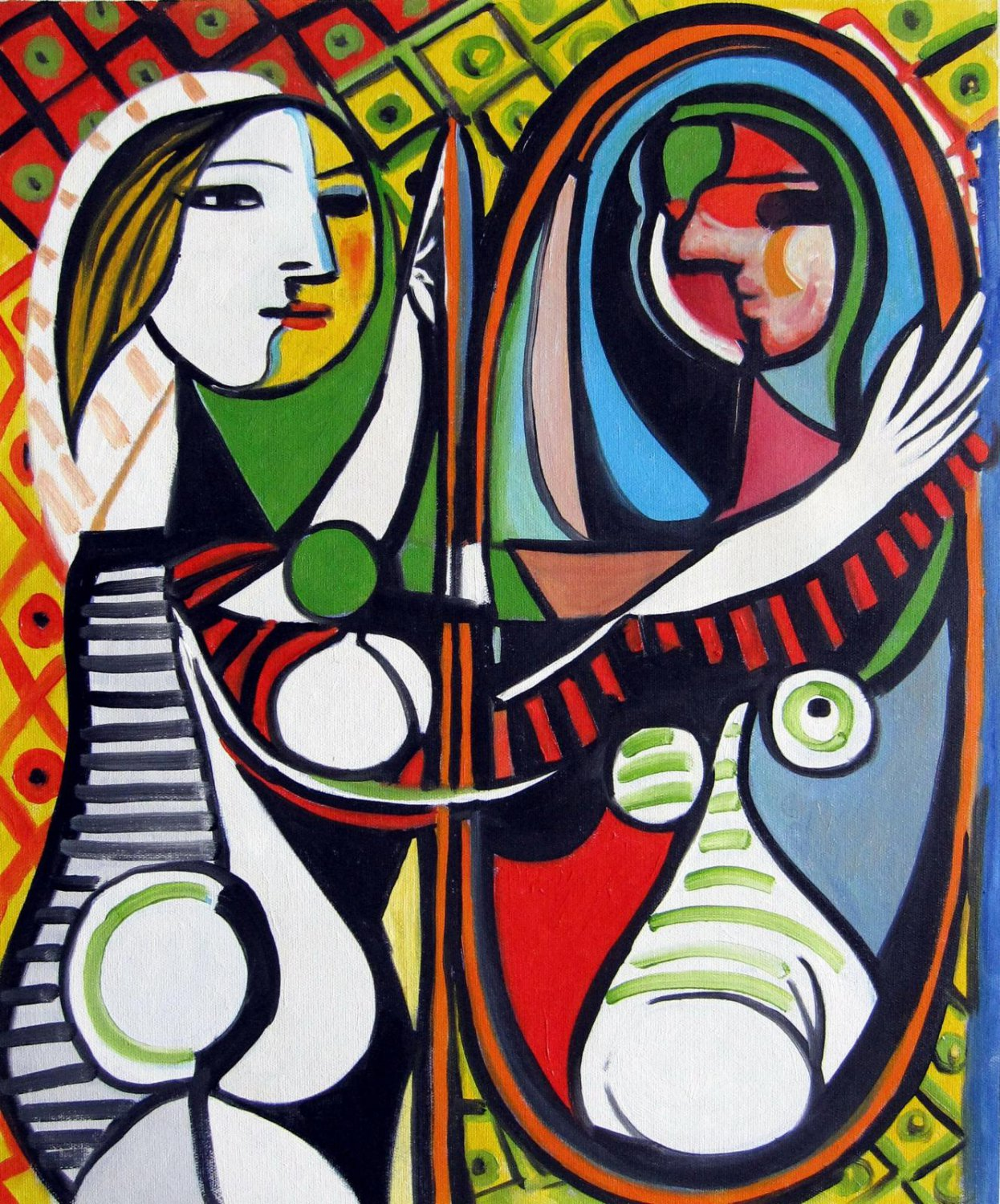 Rep. Pablo Picasso 20x24 in. stretched Oil Painting Canvas Art Wall Decor modern024