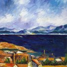 Rep. Paul Cezanne 20x24 in. stretched Oil Painting Canvas Art Wall Decor modern016