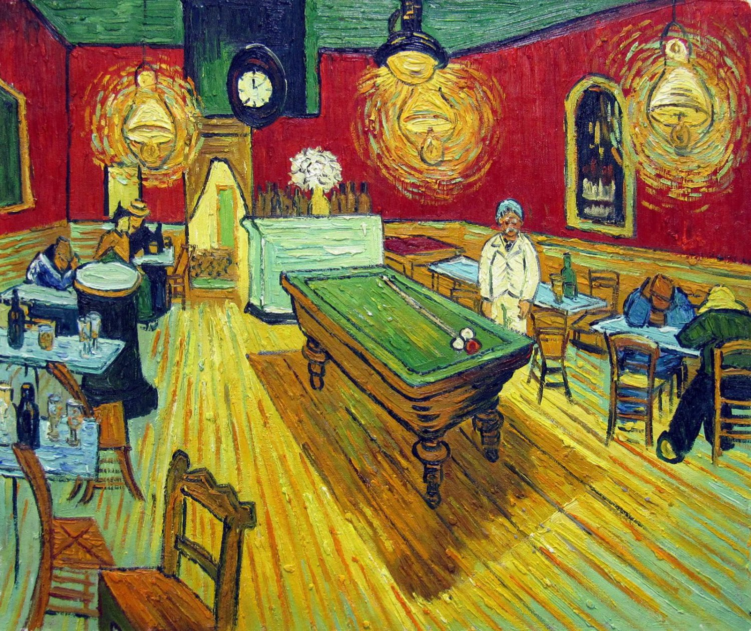 Rep. Vencent Van Gogh 20x24 in. stretched Oil Painting Canvas Art Wall Decor modern111