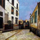 Rep. Maurice Utrillo 20x24 in. stretched Oil Painting Canvas Art Wall Decor modern03D