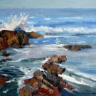 Seascape 20x24 in. stretched Oil Painting Canvas Art Wall Decor modern07D