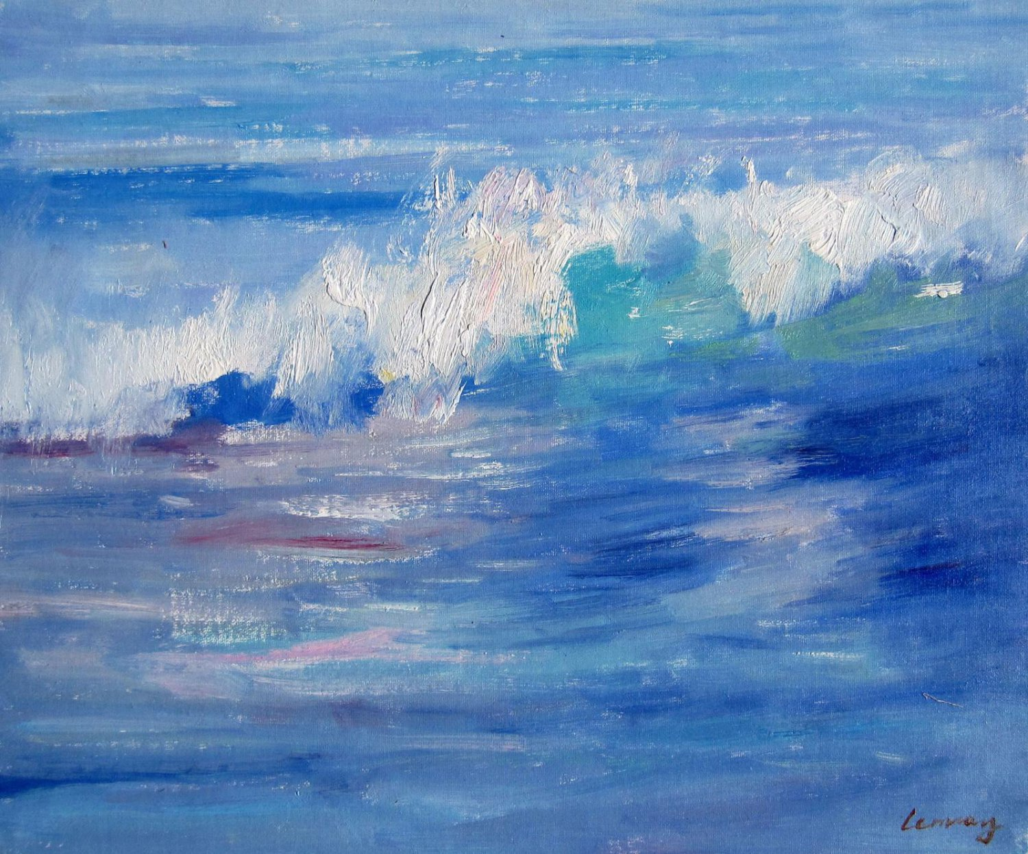Seascape 20x24 in. stretched Oil Painting Canvas Art Wall Decor modern09D