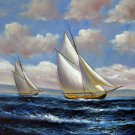 Tall ship sailing 20x24 in. stretched Oil Painting Canvas Art Wall Decor modern015