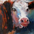 Cow 16x20 in. stretched Oil Painting Canvas Art Wall Decor modern203