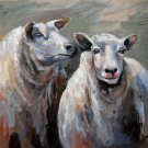 Sheep 16x20 in. stretched Oil Painting Canvas Art Wall Decor modern401