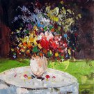 Vase Flower 16x20 in. stretched Oil Painting Canvas Art Wall Decor modern106