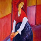 Rep. Amedeo Modigliani 16x20 in. stretched Oil Painting Canvas Art Wall Decor modern203