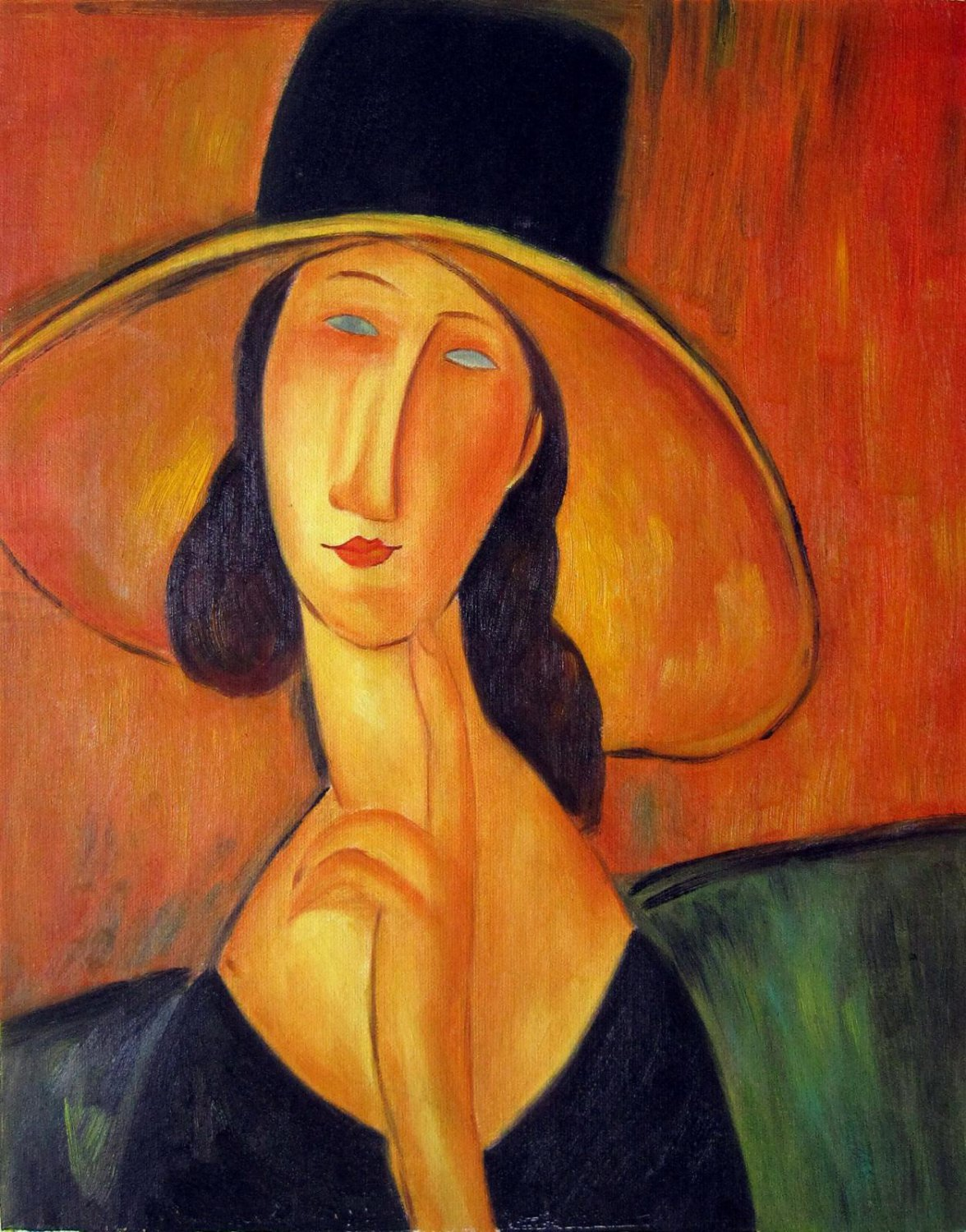 Rep. Amedeo Modigliani 16x20 in. stretched Oil Painting Canvas Art Wall Decor modern11D