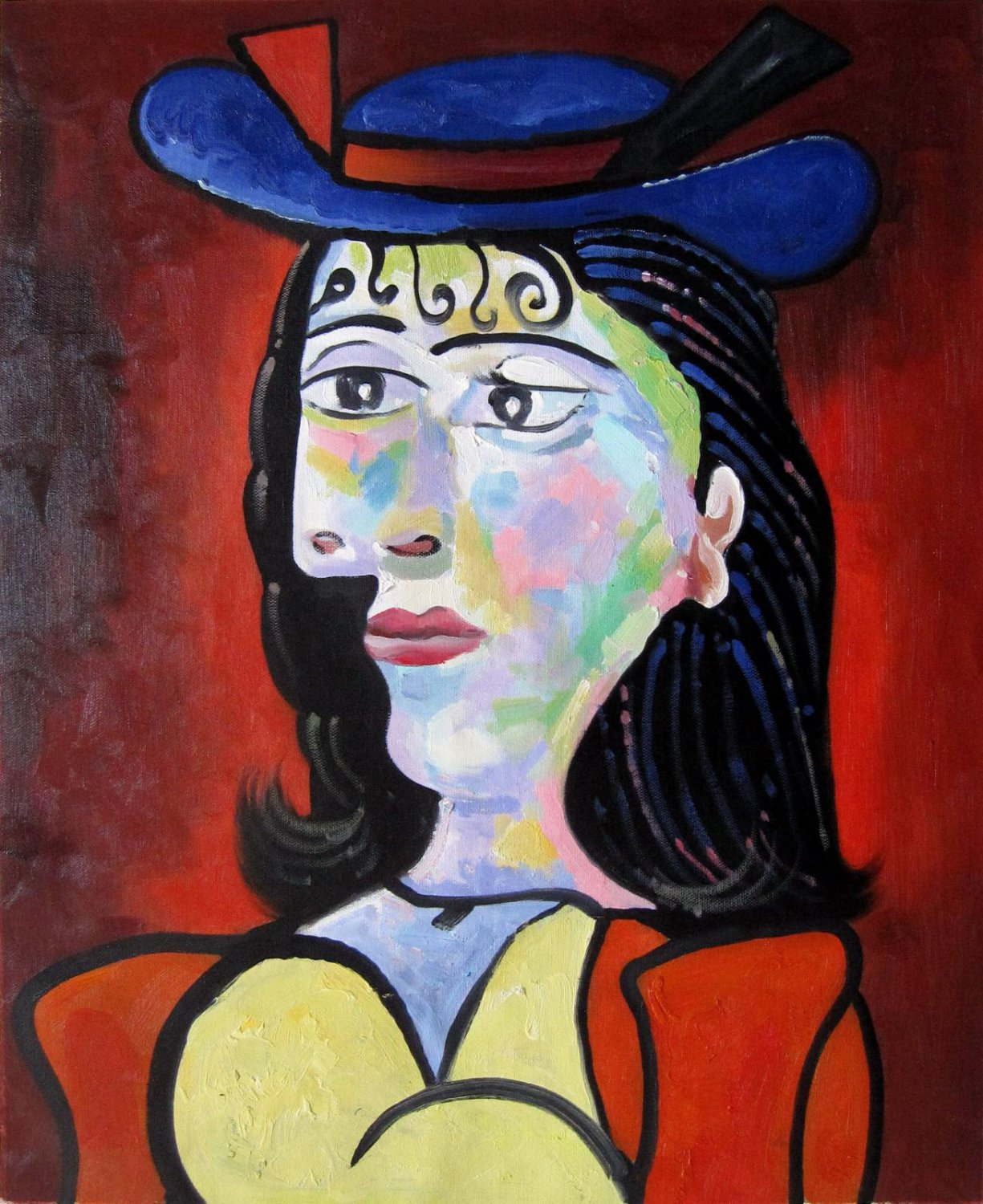 Rep. Pablo Picasso 16x20 in. stretched Oil Painting Canvas Art Wall Decor modern09D