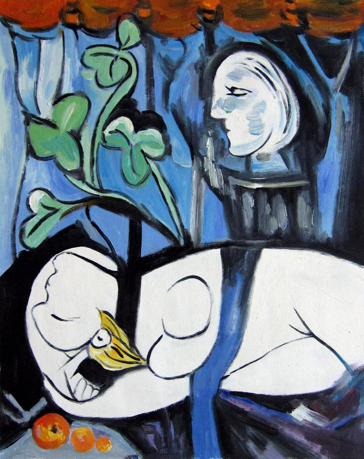 Rep. Pablo Picasso 16x20 in. stretched Oil Painting Canvas Art Wall Decor modern127