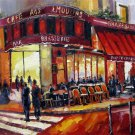 Street 16x20 in. stretched Oil Painting Canvas Art Wall Decor modern203