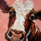 Cow 16x16 in. stretched Oil Painting Canvas Art Wall Decor modern001