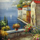 Mediterranean 12x24 in. stretched Oil Painting Canvas Art Wall Decor modern306