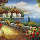 Mediterranean 12x24 in. stretched Oil Painting Canvas Art Wall Decor modern310