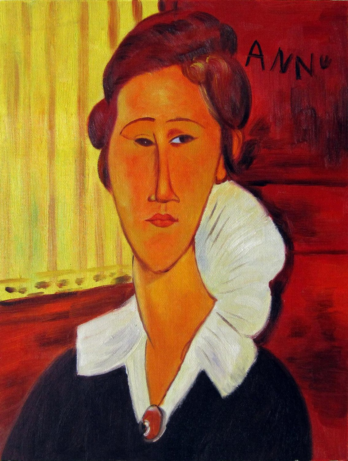 Rep. Amedeo Modigliani 12x16 in. stretched Oil Painting Canvas Art Wall Decor modern105