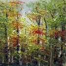 Trees 8x10 in. stretched Oil Painting Canvas Art Wall Decor modern203