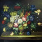 Classic flower 36x48 in.  Oil Painting Canvas Art Wall Decor modern005