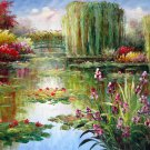 Waterlily 36x48 in.  Oil Painting Canvas Art Wall Decor modern207
