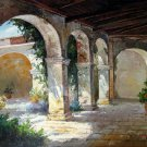 Patio 36x48 in.  Oil Painting Canvas Art Wall Decor modern102