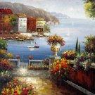 Mediterranean 36x48 in.  Oil Painting Canvas Art Wall Decor modern609