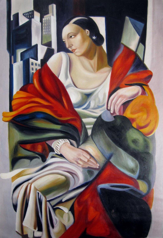 Rep. Tamara De Lempicka 36x48 in.  Oil Painting Canvas Art Wall Decor modern04D