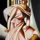 Rep. Tamara De Lempicka 36x48 in.  Oil Painting Canvas Art Wall Decor modern06D