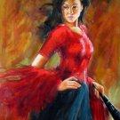 Dancer 32x48 in.  Oil Painting Canvas Art Wall Decor modern101