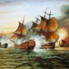Naval battle 24x48 in.  Oil Painting Canvas Art Wall Decor modern08D
