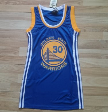 huge discount 2182b 4b59c Golden State Warriors #30 Stephen Curry blue WoMens Dress Jersey