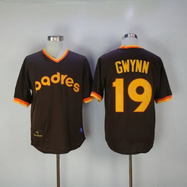 san francisco 2c180 f6681 San Diego Padres 19 Tony Gwynn Brown 1982 Throwback Baseball ...