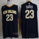 Mens Pelicans #23 Anthony Davis navy basketball jersey