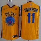 Mens Warriors #11 Klay Thompson  Yellow  basketball jersey