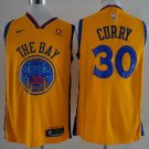 Mens Warriors #30 Stephen Curry yellow basketball jersey
