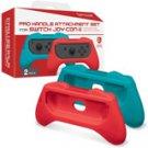 Nintendo Switch Red & Blue Pro Handle Attachment Set