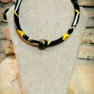 African Necklace, Fabric Necklace, Ankara Necklace, Ankara Jewelry, Gift for Mom, Gift for Her