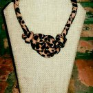 Cheetah Print Necklace, Fabric Necklace, Ankara Necklace, Rope Necklace, Gift for Her, Unique Gift