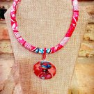 Ankara Necklace, African Queen Necklace, Fabric Necklace, Rope Necklace, Gift for Wife, Gift for Mom