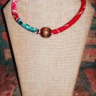 Beaded Necklace, Fabric Necklace, African Print Necklace, Rope Necklace, Gift for Women, Unique Gift