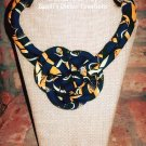 Ankara Print Knot Necklace, African Print Tribal Jewelry, African Print Jewelry, Tribal Necklace