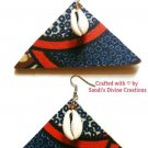 Ankara Earrings, Cowrie Beaded Earrings, Cowry Shell Earrings, Gift for Best Friend, Gift for Sister